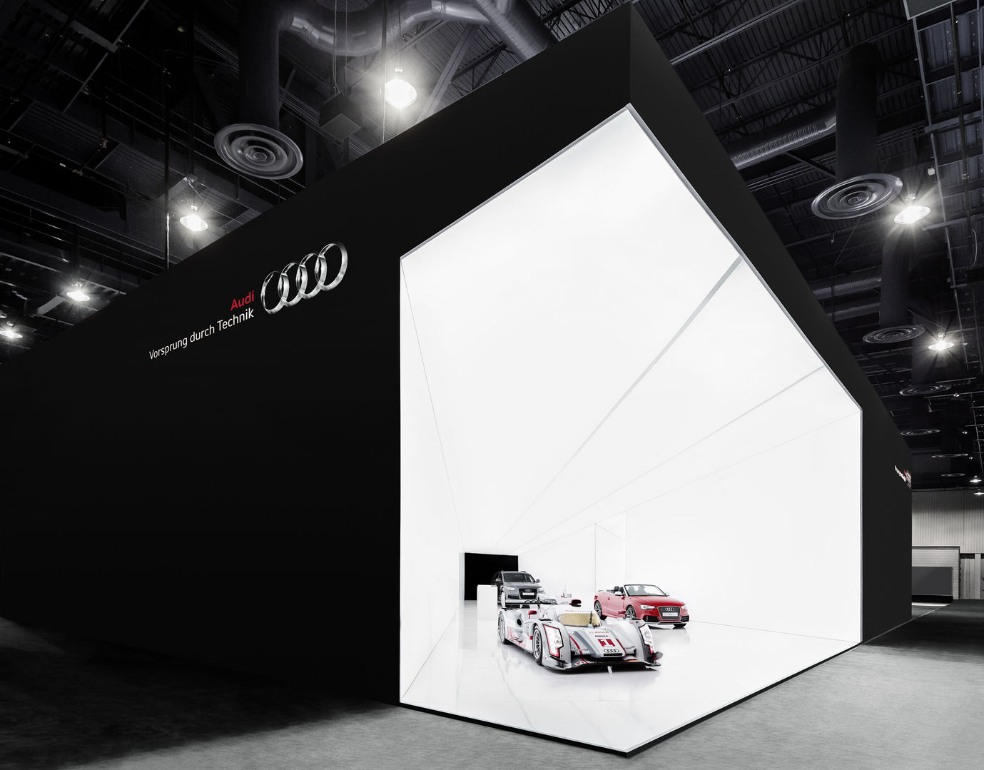 Exhibition Stand Lighting Guide : Audi ag − cone of light entry if world design guide
