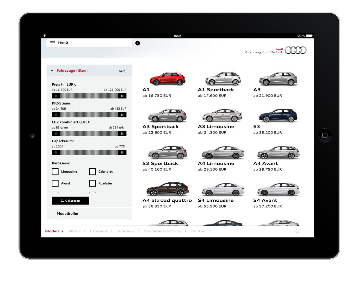 Audi car configurator entry if world design guide for House configurator