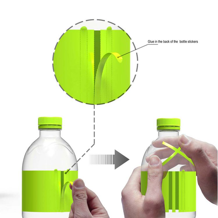 tearable bottle stickers entry if world design guide
