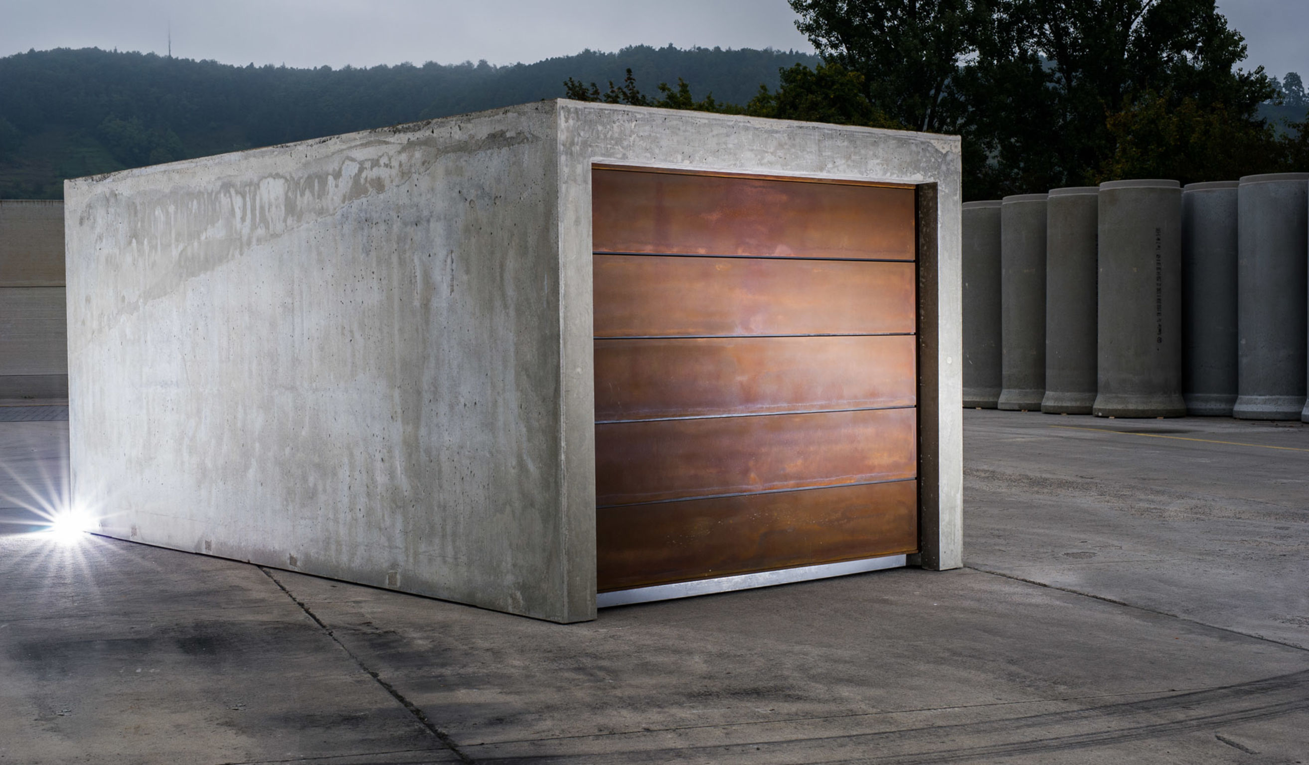 B ton brut entry if world design guide - Construction garage prefabrique beton ...