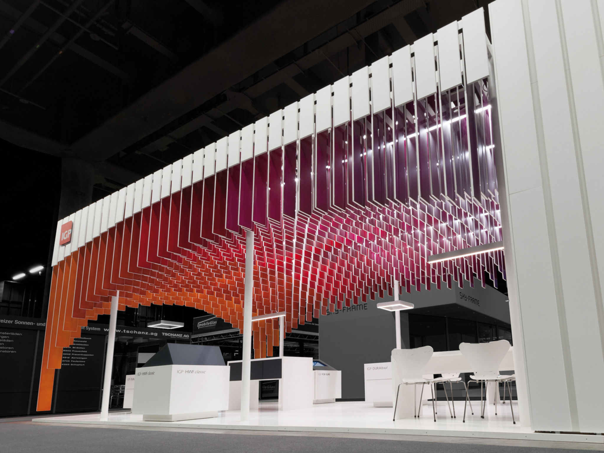 Exhibition Stand Ceiling : Igp messestand entry if world design guide