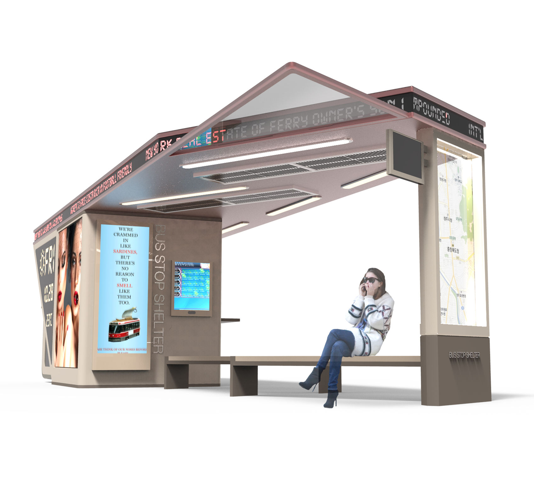 Shed Roof Bus Stop Shelter Entry If World Design Guide