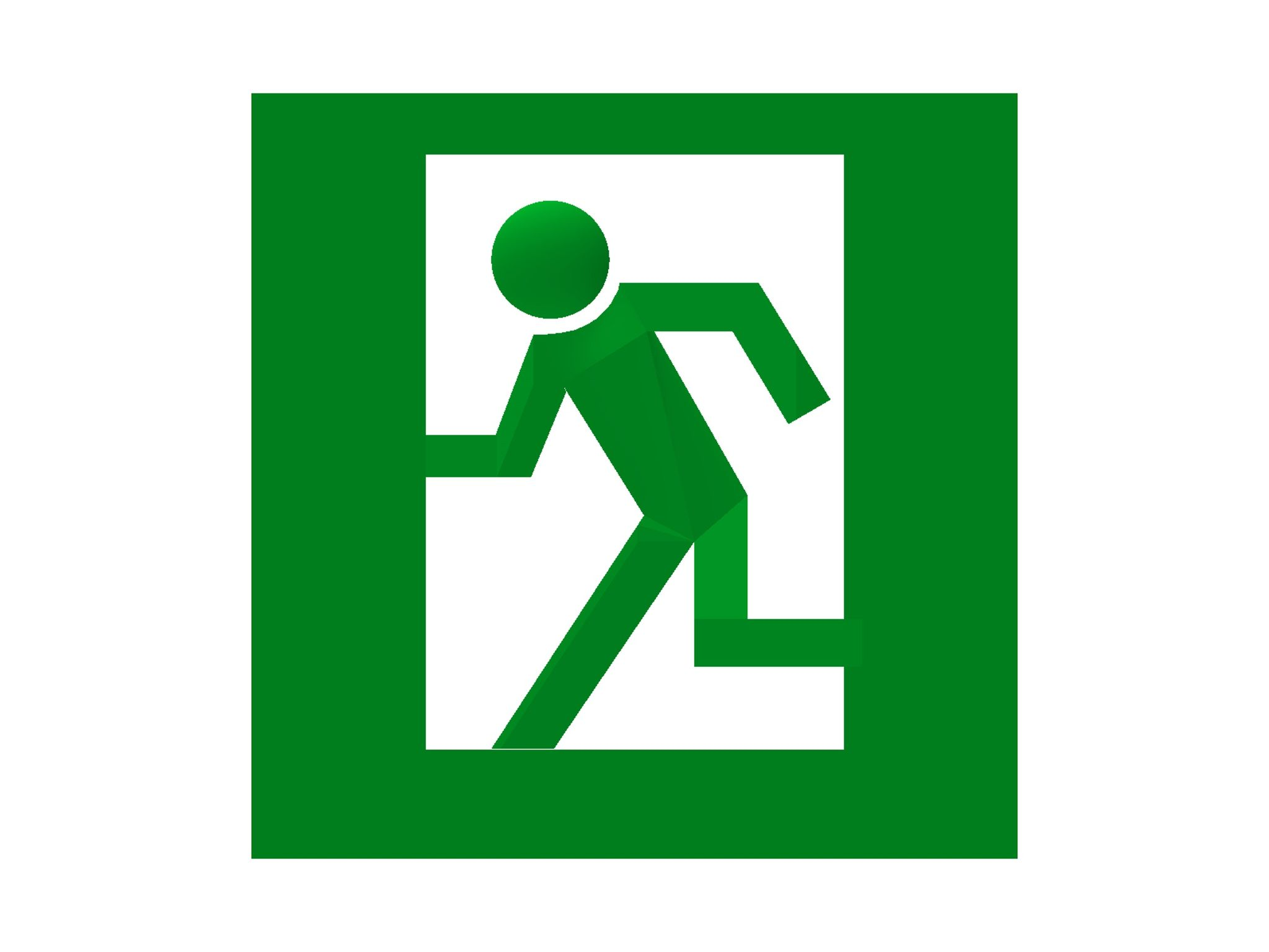 Hfeel entry if world design guide have you ever felt the man in emergency exit sign lonely what if there was another person behind the door to help him buycottarizona Images