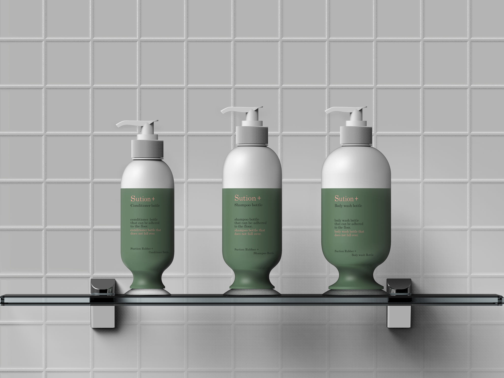 Suction Shampoo Bottle Entry If World Design Guide