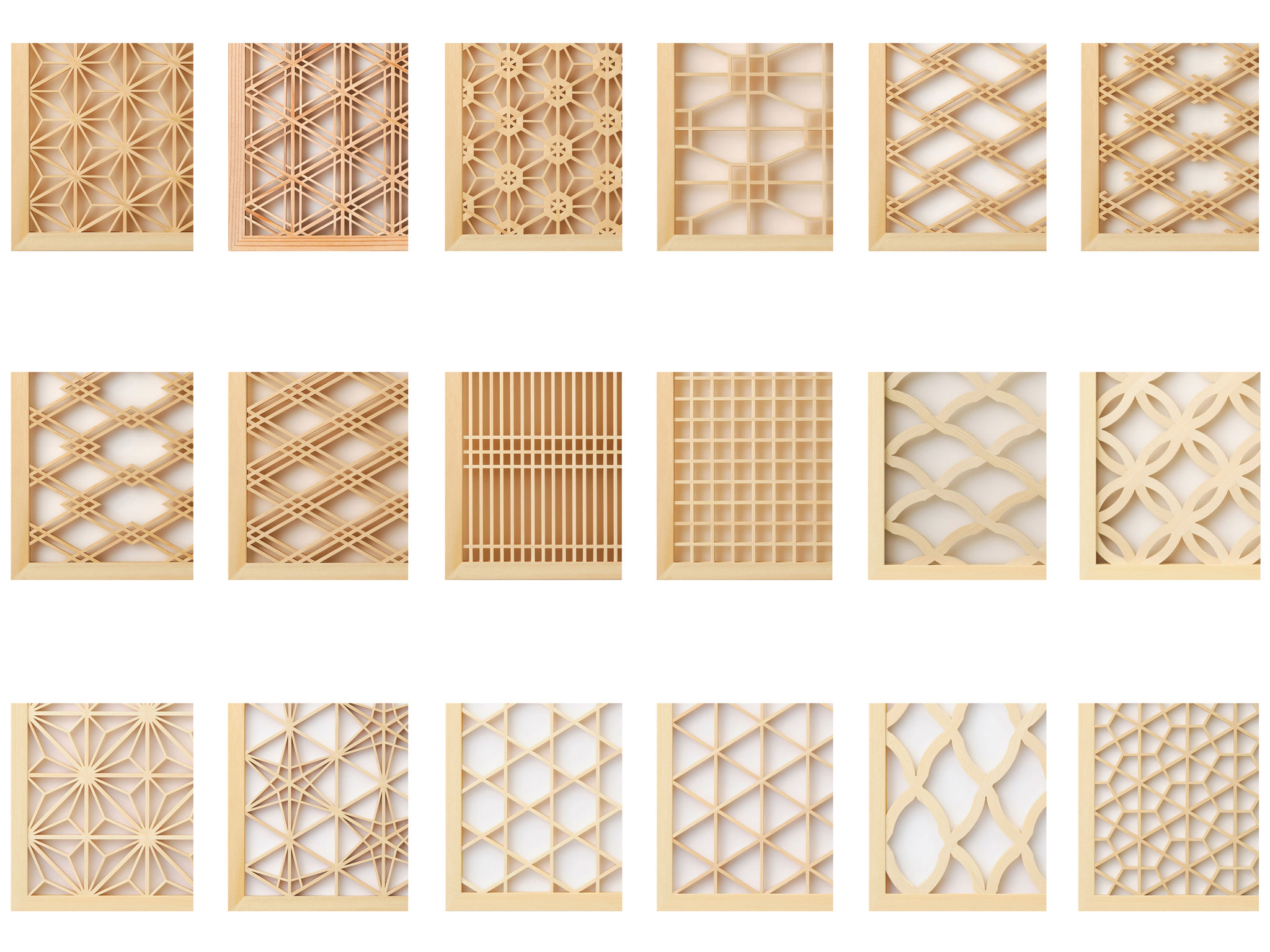 Kumiko wood screen entry if world design guide